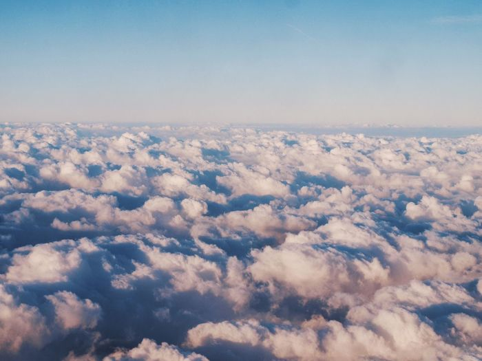 Up in the air... ✈️🌤 Nature Scenics Sky Beauty In Nature Cloud - Sky Aerial View Cloudscape Tranquility Outdoors Backgrounds No People Day Sky Only IPhoneography Up In The Air Clouds And Sky No Words!! Just A Photo EyeEmNewHere Flying High Millennial Pink Long Goodbye The Great Outdoors - 2017 EyeEm Awards