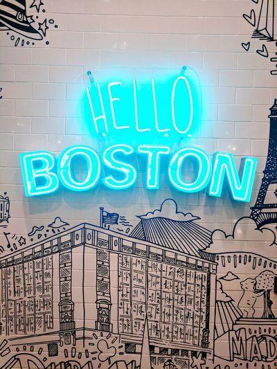 Primark Boston Designer  Massachusetts North Boston No People Text Hello Boston Lights