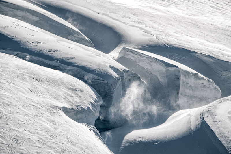 Crevasse Cold Temperature Snow Winter Outdoors Frozen Landscape Ice Extreme Weather Covering White Color Glacier