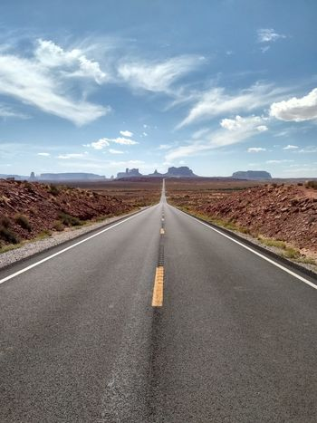 The Way Forward Road Outdoors Day Food And Drink Asphalt Landscape Sky Cloud - Sky Nature No People Straight Route 66 Scenics Mountain Valley USA USAtrip Beauty In Nature Beauty In Nature Food Route Politics And Government Freshness Food