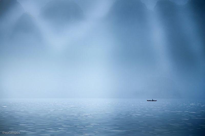 Silhouette Boat In Coron Sea