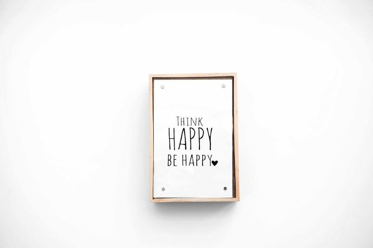 White Background Text Wooden Frame Happy Be Happy Think Happy Be Happy Quotes Quote Inspiration Minimal Minimalism Motivational Quotes Motivation New Day New Beginning White Color Studio Shot Copy Space Western Script No People Bright Communication Words Inspirational Eyeem Quotes Eyeem Quote Of The Day Isolated Backdrop Design Advertising Advertisement Top View Above Object Horizontal Image