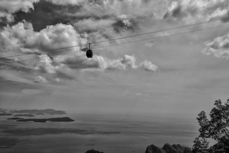 Sky Nature Cloud - Sky Cable Outdoors Day Beauty In Nature Hanging Mountain Tree Water Overhead Cable Car Scenics Sea
