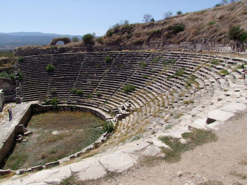 Theatre, Aphrodisias Aphrodisias  Arid Climate Beauty In Nature Blue Sky Built Structure Composition Day Incidental People Landscape Mountain Nature Non-urban Scene Outdoor Photography Outdoors Roman Theatre Steps Stone Wall Sunlight Theatre Tourist Attraction  Tranquil Scene Tranquility Trees Turkey