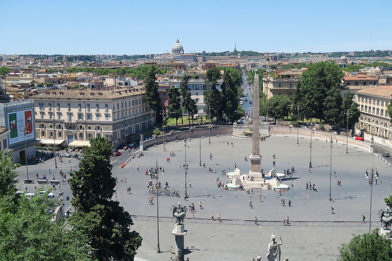 Rome, Italy June 18 2016. Piazza del Popolo fountain and obelisk view from Pincio. Pincian hill overlooks Vatican with St. Peter Basilica and Vatican radio masts. Via Cola di Rienzo in the background. Architecture Building Exterior Capital Cathedral Catholic Cityscape Dome Italia Italian Italy Papal Basilica Of St. Peter Piazza Del Popolo Piazza Del Popolo Fountain And Obelisk Pincian Hill Pincio Pope Religion Roma Roman Rome St. Peter's Basilica Travel Destinations Vatican Vatican Radio Masts Via Cola Di Rienzo Rome Moving Around Rome