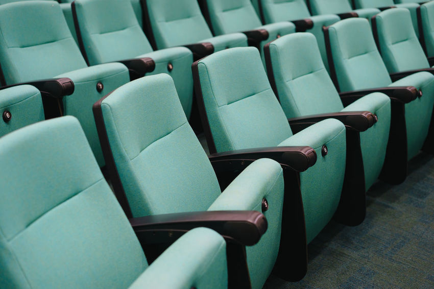 Green Auditorium Theatre Seating Lecture Theatre Movie Theatre  Auditorium Chair Cinema Cinema Seating Close-up In A Row Indoors  Large Group Of Objects Lecture Hall Lecture Hall Seating Manufacturers No People Rows Seat Seating Seats
