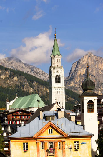 Church At Cortina D Ampezzo Against Sky