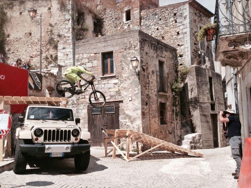 Pretoro downtown 23 agosto 2015 MTB Bycicle Pretoro Italy Abruzzo Ride Downtown Downhill Mountainbike