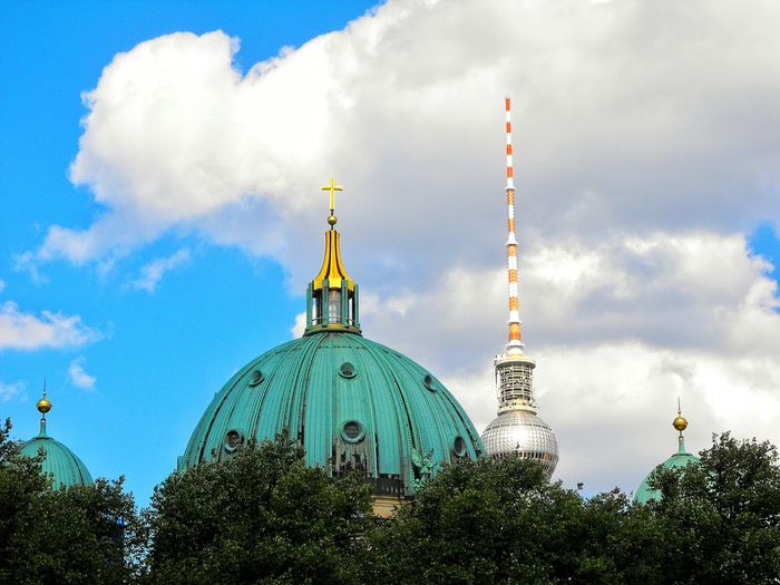 View of cathedral against cloudy sky