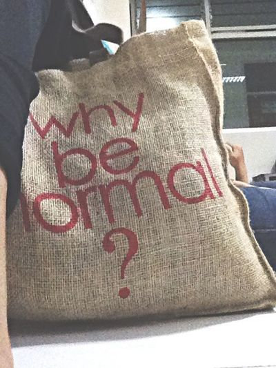 Why be normal? Altergo Class Bag Culture INDONESIA