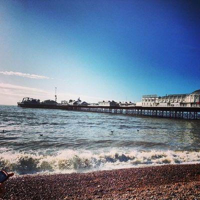 Summer feeling in February ♥ Beach Sea Sunnyday Brighton uk