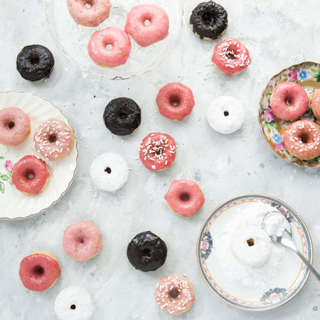 Donuts Mini Donuts Pink Sugar Sweet Treats  Treats Valentine's Day  Baking Food Food And Drink Home Baking Homemade Treats Pink Donut Sprinkle Donuts Sweet Food Valentine's Day - Holiday Vegan Desserts Vegan Donut Vegan Treats