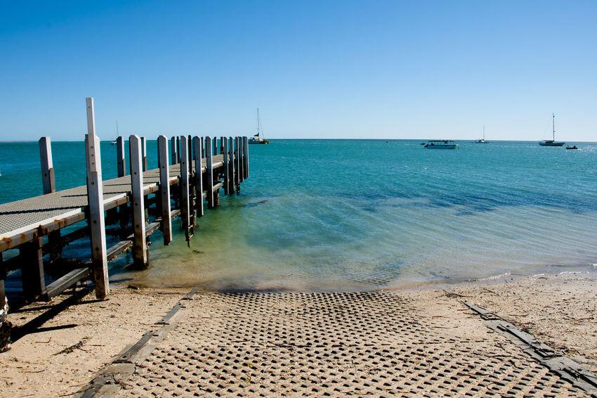 Wood Jetty Australia Pier Western Australia Beach Jetty Monkey Mia Sea
