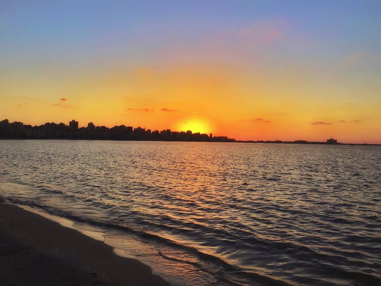 🌅 Sunset Sunset Beauty In Nature Scenics Nature Tranquil Scene Tranquility Water Sea Orange Color Silhouette Sky No People Outdoors Idyllic Reflection Beach Cloud - Sky Travel Destinations Horizon Over Water Wave Shore EyeEm Best Shots EyeEmBestPics ...