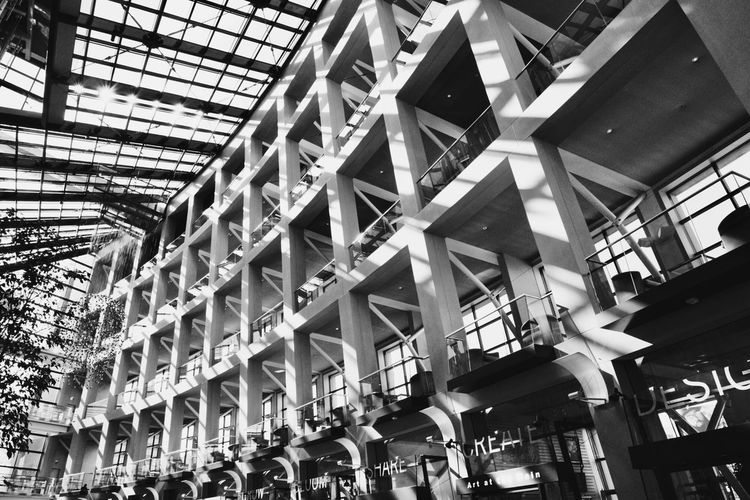 Black And White Friday Salt Lake City Library ❤️ Architecture Built Structure Indoors  Low Angle View Day Building Exterior People No People Public Library Salt Lake City