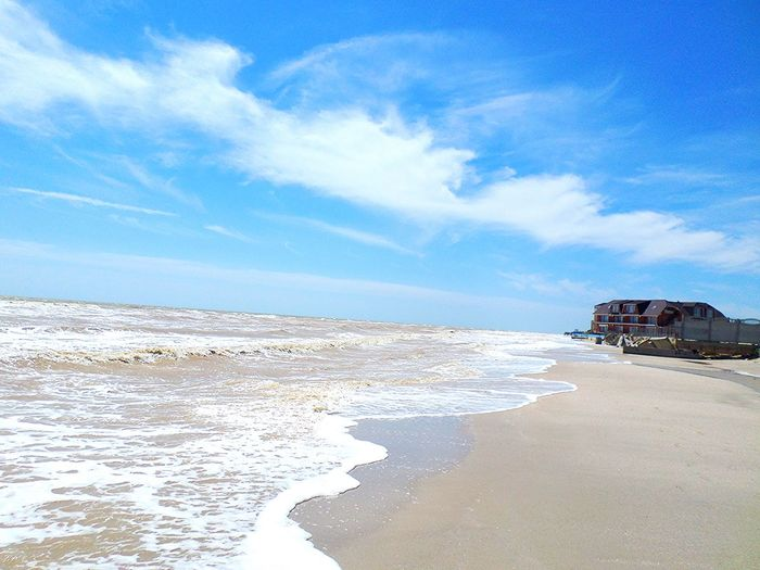 Beach Sea Sand Sky Nature Cloud - Sky Blue Horizon Over Water Outdoors Scenics Tranquility Water No People Day Vacations Beauty In Nature Tourism Travelling Travel Photography Travel Destinations Ukraine Azovsea Azov Sea EyeEmNewHere 100 Days Of Summer