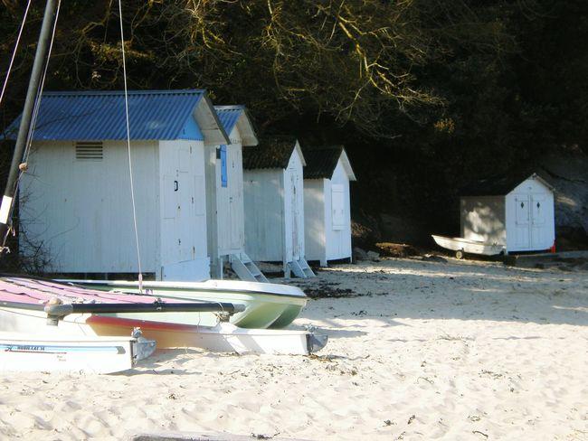 Beach Sand Built Structure sailboat Beach Cabins Boats⛵️ no people Wood Cabin Tranquility Outdoors île De Noirmoutier