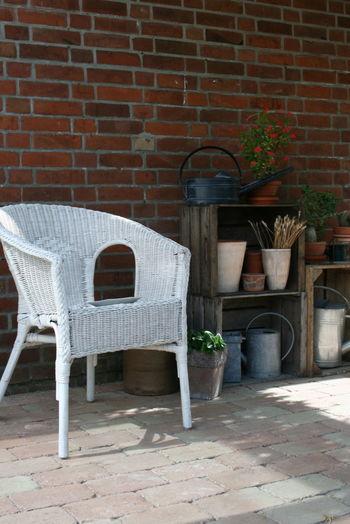 Tranquility Bauerngarten Brick Decoration Flower Garden Nature No People Plant Rural Scene Seat