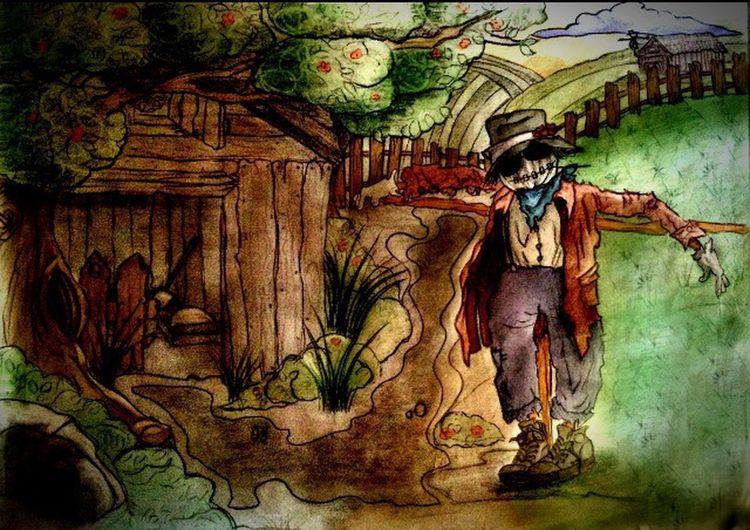 Scarecrow Scarecrows Art ArtWork Art, Drawing, Creativity My Art MyArt My Drawing Drawing Draw مترسك من🎨💖