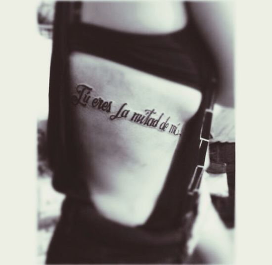 """You are the half of me."" Tattoo Tattoo Script Inked Tattoo Blog"