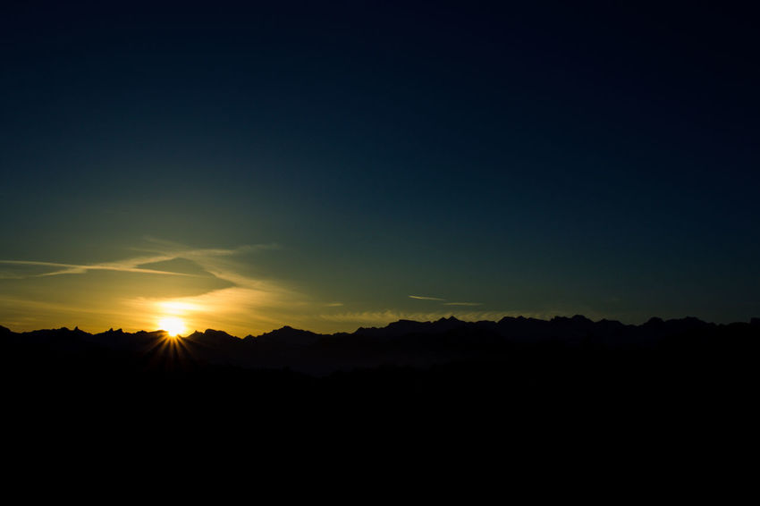 sunrise Beauty In Nature Day Landscape Nature No People Outdoors Scenics Silhouette Sky Sunset Tranquil Scene Tranquility