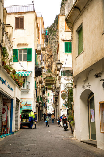 Italy Amalfi  Amalfi Coast Building Exterior Architecture Built Structure Building City Residential District Direction The Way Forward Street Real People Day Men Group Of People Transportation Walking Women Nature Town Window Outdoors Alley