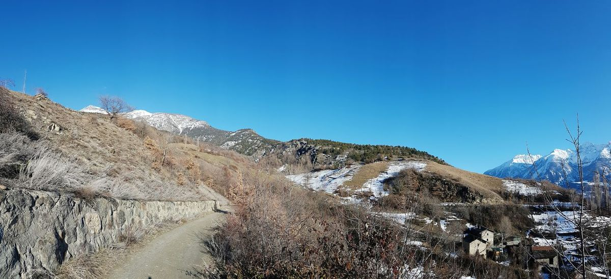 Panoramic february. Mountain Nature Outdoors Clear Sky Beauty In Nature Panoramic Views Winter Day No People Mountain Roads AlpsMountain Panoramic Photography