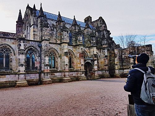 Architecture Religion Built Structure Building Exterior History Spirituality Travel Destinations Day People Sky Outdoors Place Of Worship Only Men Rosslyn Chapel Scotland 💕