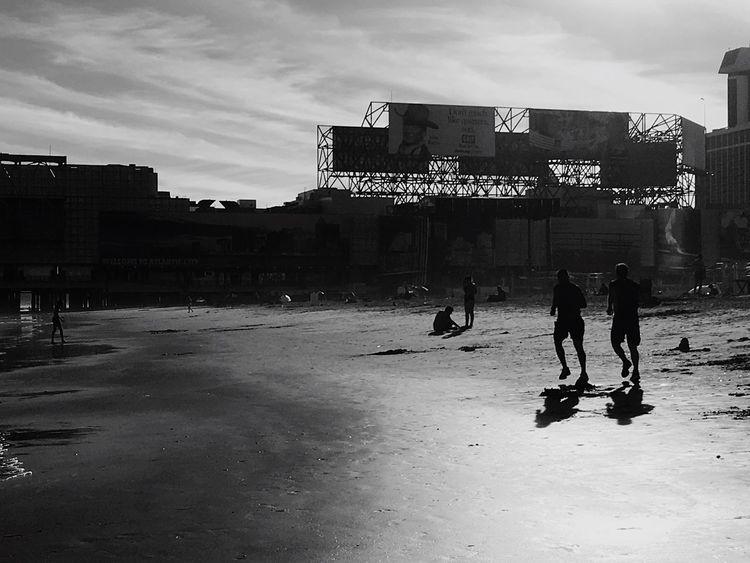 Atlantic City Jogging Sunset Bnw_life Bnw_captures Blackandwhite Photography Streetphotography Shore Beach Suumer  Atlantic City, New Jersey