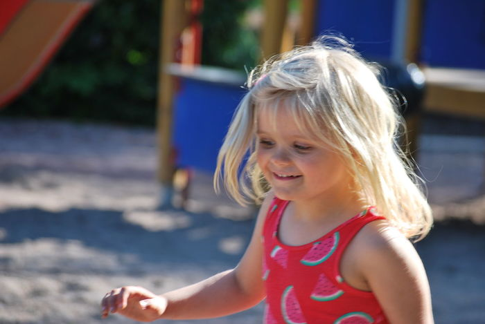 Childhood Child Girls Children Only One Girl Only Blond Hair Summer One Person Outdoors Portrait Headshot Elementary Age People Smiling Happiness Day Water Close-up The Portraitist - 2017 EyeEm Awards 100 Days Of Summer Fashion Stories This Is Family