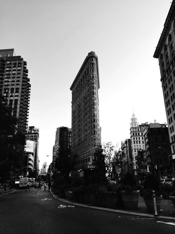 The Iron Building. Flatironbuilding New York Cityscape Black & White Photography Nopeople City Famous Place Day Outside Travel Streetphotography EyeEm Best Shots