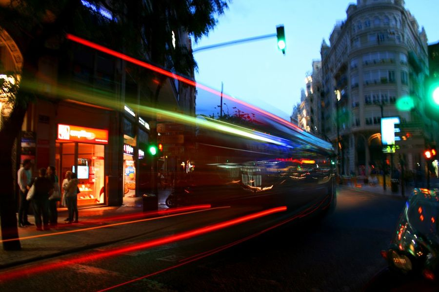 "I´v got a lot of inspiration by the night bus, so I have almost created a ""ghost story"" out of it. Blurred Blurred Motion Bus Ghost Light Lines Light Streaks Motion Blur Motion Capture Motion Photography Moving Bus Night City Night City Lights Night Lights Red Bus Street Photography The Week Of Eyeem Cities At Night The Street Photographer - 2016 EyeEm Awards Need For Speed The Mix Up Colour Of Life Turn Your Lights Down Low Overnight Success capturing motion Embrace Urban Life"