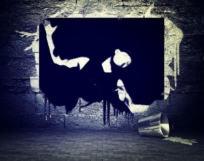 Graffiti Banksy Black & White Noriega