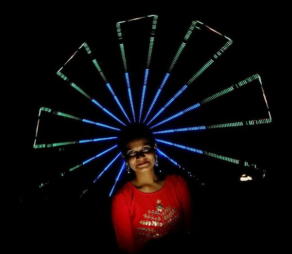 no need to prove to glow!!! Clubbing Portrait Multi Colored Nightclub Nightlife Presenter Illuminated Arts Culture And Entertainment Beautiful Woman Dj