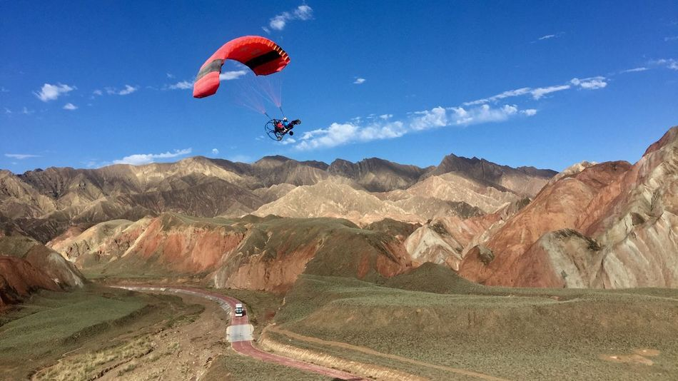 Extreme Sports Mid-air Adventure Transportation Sky Leisure Activity Nature