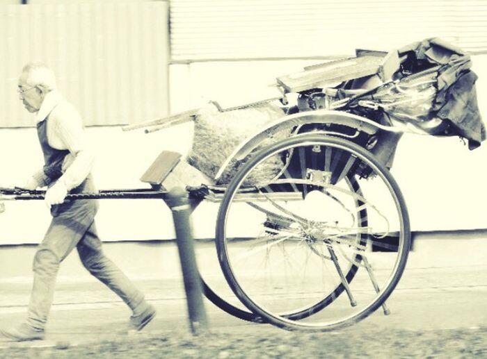 人力車🎌 Transportation Mode Of Transport One Person Building Exterior Standing Adults Only Outdoors Day One Man Only People Adult Tire Japan Mxcxf