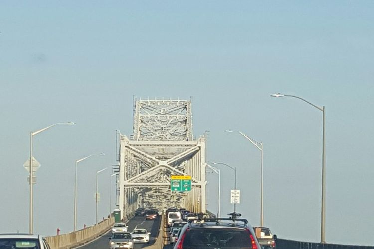 Traveling Home For The Holidays Transportation Clear Sky Car Driving Bridge Bridgesaroundtheworld Bridge To Family Traveling Home For The Holidays Goethals Bridge To Staten Island New York