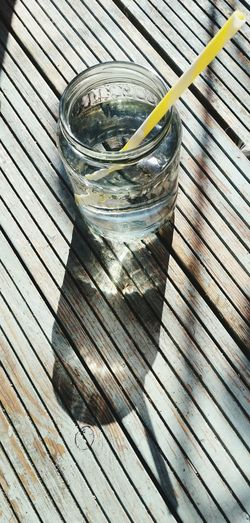 High Angle View Still Life Shadow No People Summer Glass - Material Glass Glass Of Water Water Water Reflections