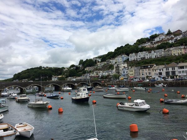 One of my favourite place in Cornwall, Looe. No People Cornwall Uk Looe Travel Destinations Holiday Boats Boats And Water Bluesky Bridge