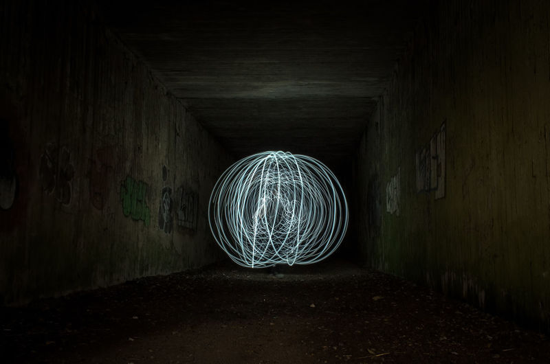 First attempt at a light orb. Could be better I think but I know how to make it better next time. Dark No People Long Exposure Urban Tunnel Light Dark Darkness And Light Darkness Night Night Photography Nightphotography Glowing Glow Light Painting
