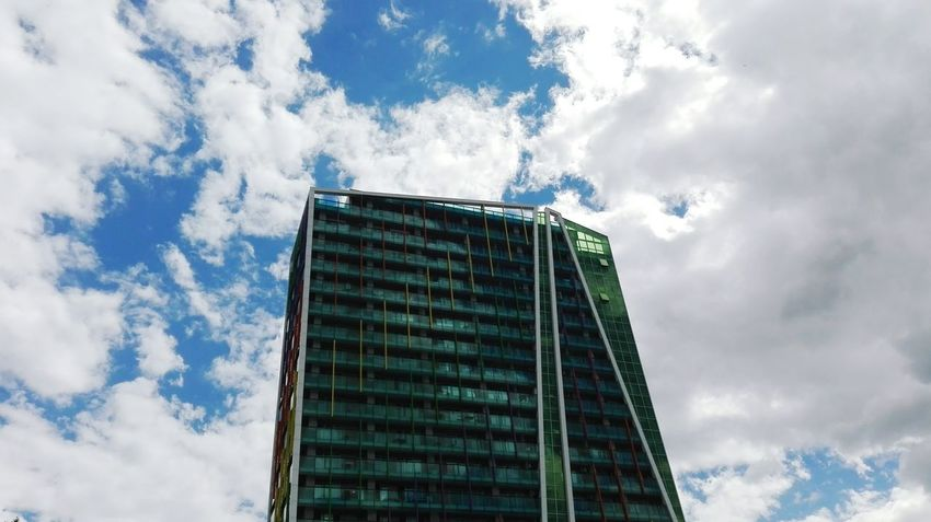 Architecture Skyscraper Business Finance And Industry Cloud - Sky Built Structure Modern Low Angle View City Sky Office Building Exterior Business Day No People Outdoors Futuristic
