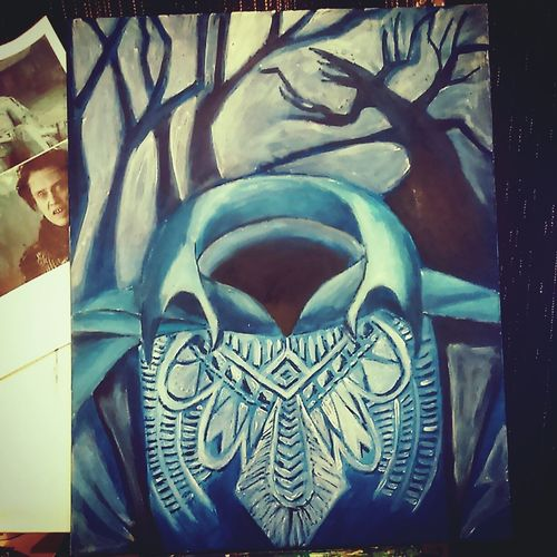 So i did a portrait of the Headless Horseman bwcause i love Sleepy Hollow <3 thought it would be funny to paibt someone who had no face.... Sleepy Hollow Tim Burton Christopher Walken Art, Drawing, Creativity ArtWork Art Painting Spooky