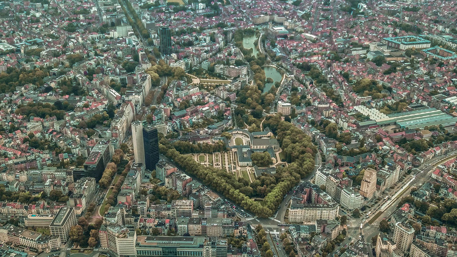 Brussels Aerial View Architecture Building Building Exterior Built Structure City City Life Cityscape Community Crowd High Angle View Nature Outdoors Plant Residential District Town TOWNSCAPE Tree