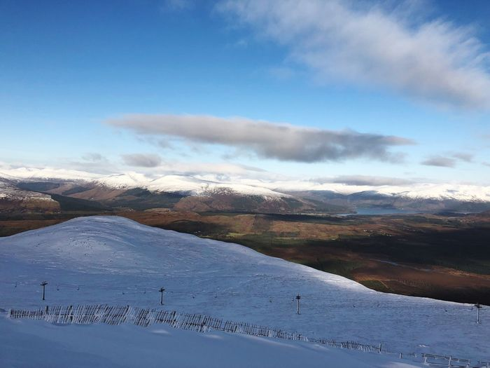 Scotland 🏴 Nevis Range Scotland Snow Nature Cold Temperature Winter Day Outdoors Beauty In Nature Sky Tranquility Cloud - Sky Mountain Landscape Scenics