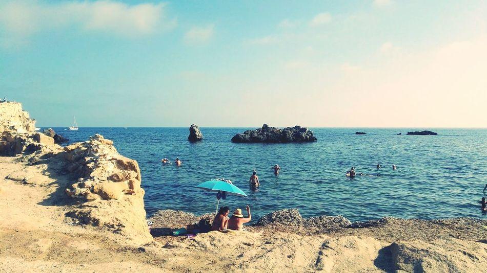 Relaxing Mar Mediterráneo Mediterranean Sea Hello World Hi! Photooftheday Mar Sea And Sky Wonderful Day Wonderful Beach Photography BEACH!  Beach Paraisonatural Paraiso☀🍃 Tabarca's Island Paradaise Tabarca Wonderful World Island Hello World ✌ Hello World
