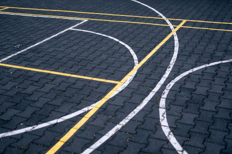 Basketball Court On Pavement