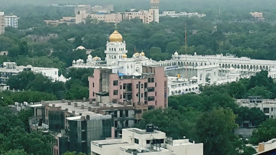 Gurudwara Bangla Sahib Ji Bangla Sahib New Delhi Aerial Shot Cityscapes Landscape