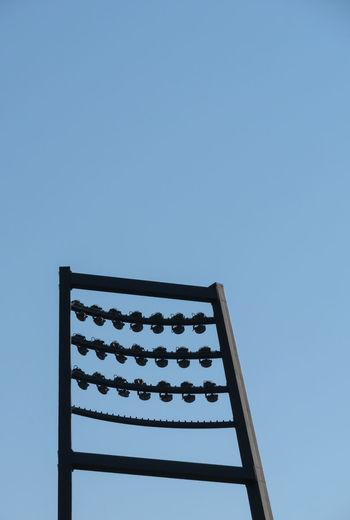 Stadium Lights Lines Clear Sky Blue Sky