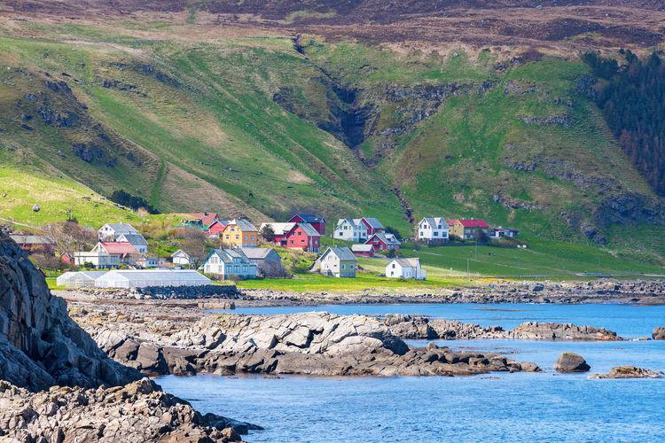 Coast village on runde in norway