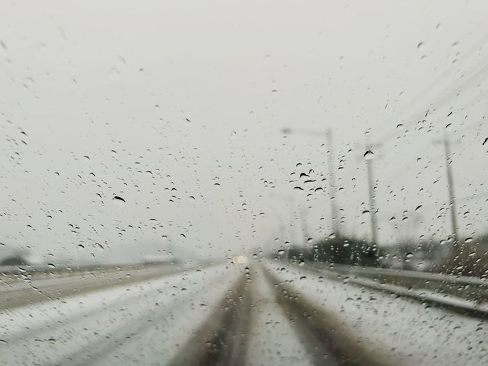 Swow Snowing Snow ❄ Drop Glass - Material Vehicle Interior Wet Window No People Car